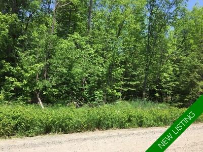District of Muskoka/Lake of Bays/Franklin Vacant Land for sale: